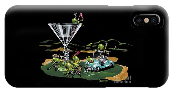 Liquor iPhone Case - 19th Hole by Michael Godard