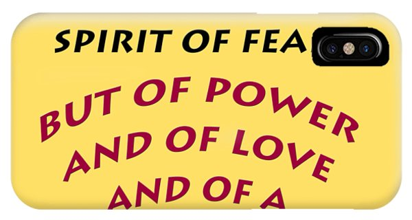 2 Timothy 1 7 God Has Not Given Us A Spirit Of Fear IPhone Case