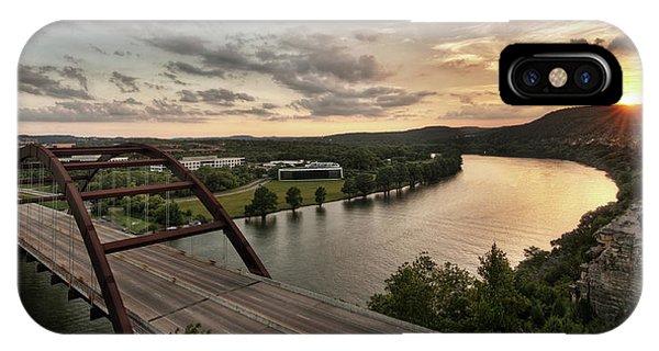 360 Bridge Sunset IPhone Case