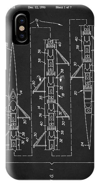 8 Man Rowing Shell Patent IPhone Case