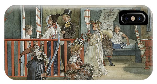 Art And Craft iPhone Case - A Day Of Celebration - From A Home by Carl Larsson