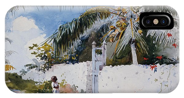 Bahamas iPhone Case - A Garden In Nassau by Winslow Homer