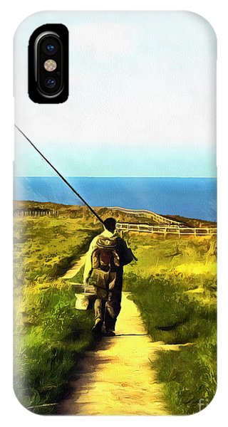 A Plaice To Fish IPhone Case