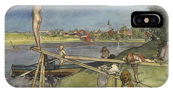 Art And Craft iPhone Case - A Pleasant Bathing-place. From A Home by Carl Larsson