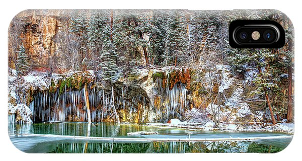 Olena Art Serene Chill Hanging Lake Photograph The Gem Of Glenwood Canyon Colorado IPhone Case