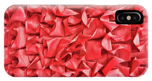 Scarlet iPhone Case - A Texture Background by Tom Gowanlock