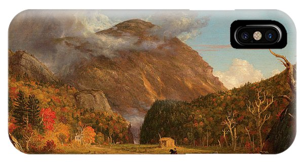 Rocky Mountain iPhone Case - A View Of The Mountain Pass Called The Notch Of The White Mountains, Crawford Notch by Thomas Cole