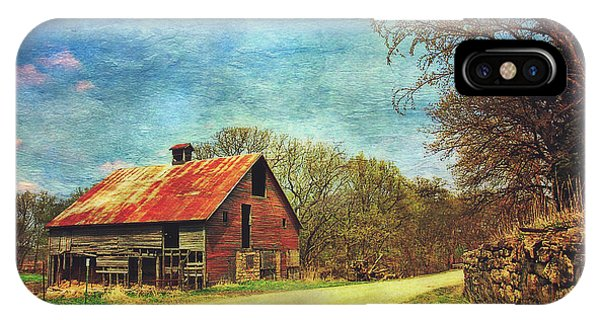 IPhone Case featuring the photograph Abandoned Red Barn by Anna Louise