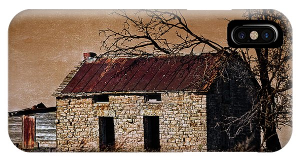 IPhone Case featuring the photograph Abandoned Stone House by Anna Louise