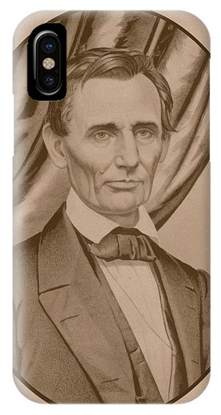 United States Presidents iPhone Case - Abraham Lincoln Circa 1860  by War Is Hell Store