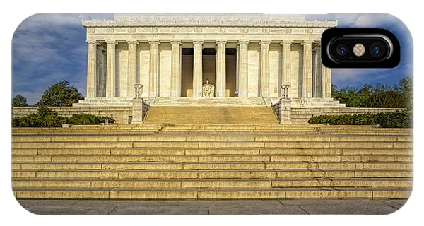 Lincoln Memorial iPhone Case - Abraham Lincoln Memorial  by Susan Candelario