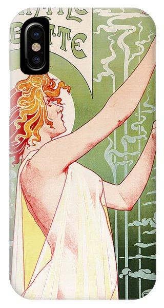 Fairy iPhone Case - Absinthe Robette by Henri Privat-Livemont