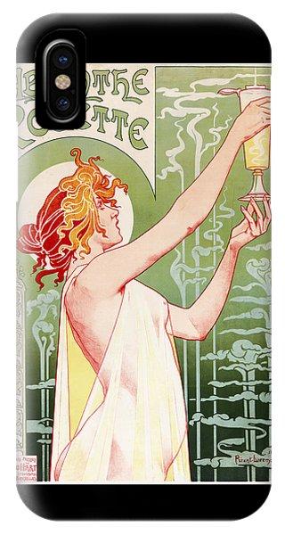 Mythological Creature iPhone Case - Absinthe Robette by Henri Privat-Livemont