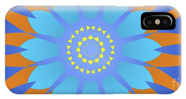 Arte iPhone Case - Abstract Blue, Orange And Yellow Star by Drawspots Illustrations