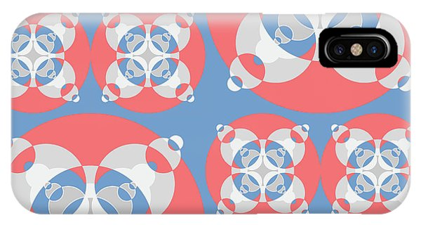Arte iPhone Case - Abstract Mandala White, Pink And Blue Pattern For Home Decoration by Drawspots Illustrations