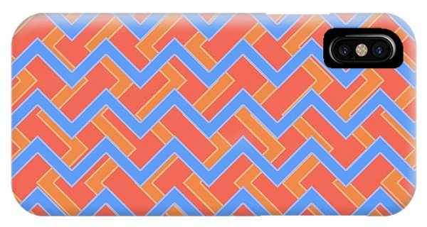 Arte iPhone Case - Abstract Orange, Red And Cyan Pattern For Home Decoration by Drawspots Illustrations