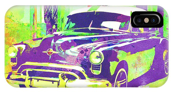 iPhone Case - Abstract Watercolor - Havana Cuba Classic Car I by Chris Andruskiewicz