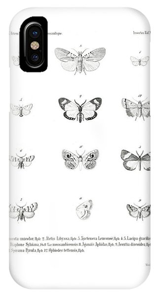 IPhone Case featuring the drawing African Butterflies by Bernhard Wienker