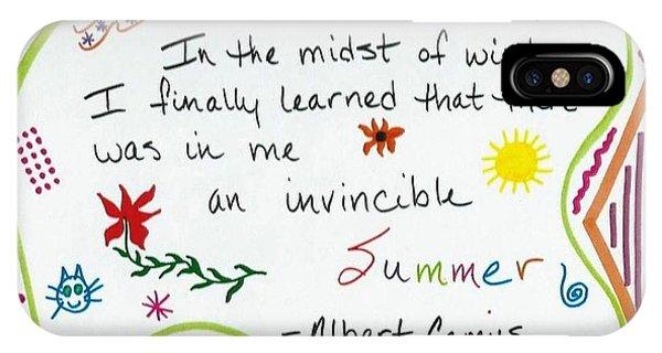 Albert Camus Doodle Quote IPhone Case
