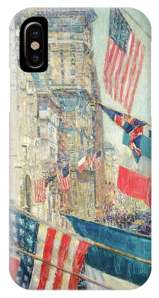 iPhone Case - Allies Day - May 1917 by Childe Hassam