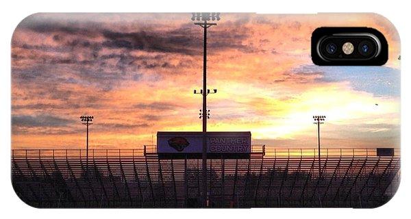 Alma High School Don Miller Field Sunrise Bleachers IPhone Case