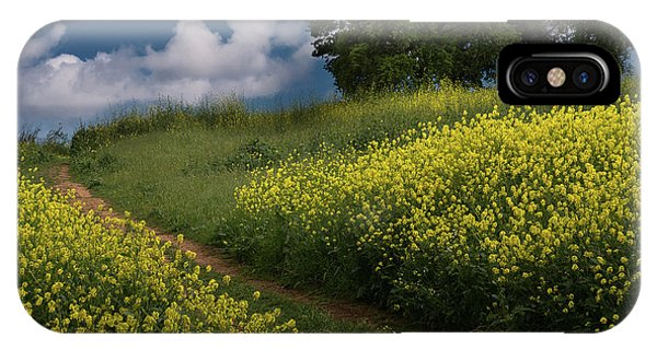 Almaden Meadows' Mustard Blossoms IPhone Case