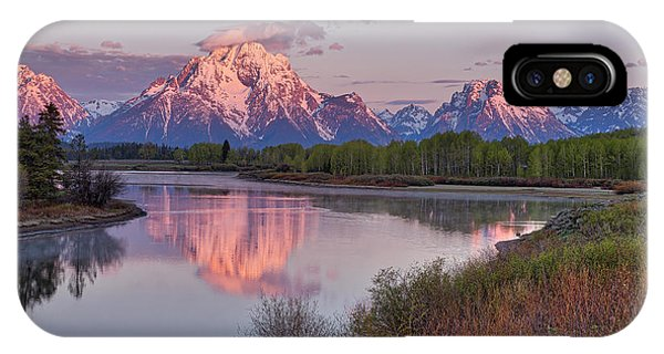 Alpenglow At Oxbow Bend IPhone Case
