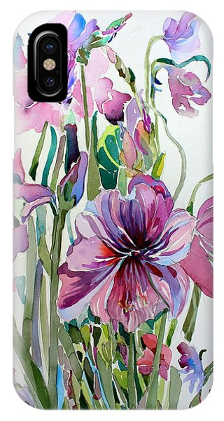 Amaryllis iPhone Case - Amaryliss by Mindy Newman