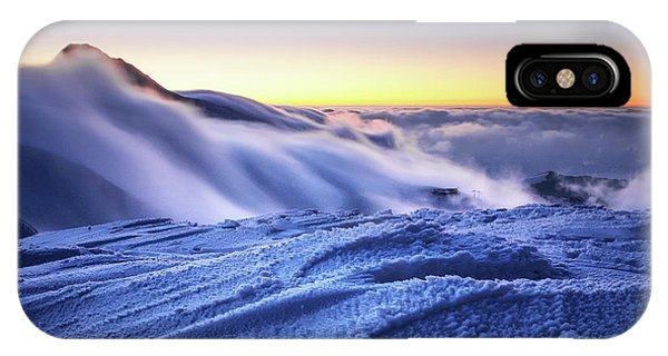 Amazing Foggy Sunset At Mountain Peak In Mala Fatra, Slovakia IPhone Case