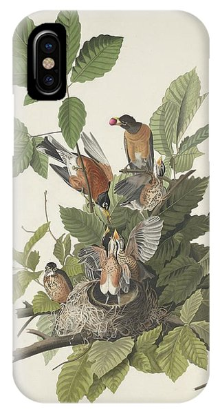1851 iPhone X Case - American Robin by Dreyer Wildlife Print Collections