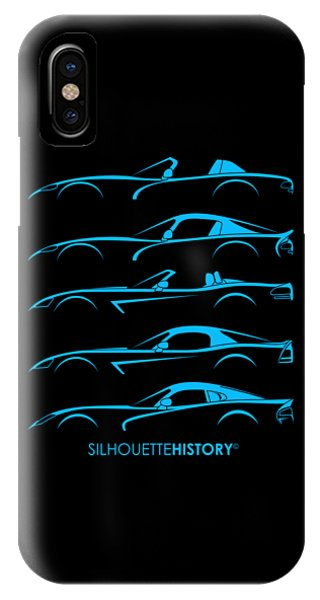 Viper iPhone Case - American Snakes Silhouettehistory by Gabor Vida