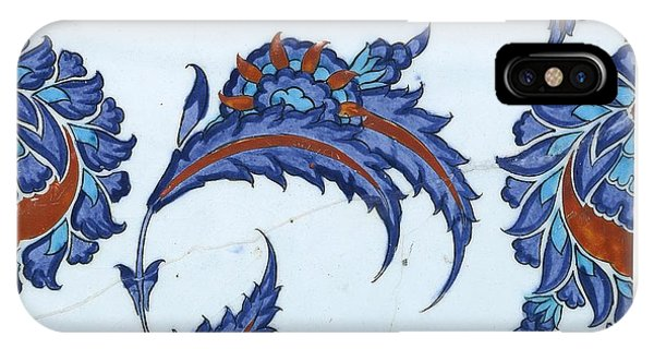 An Iznik Polychrome Pottery Tile IPhone Case