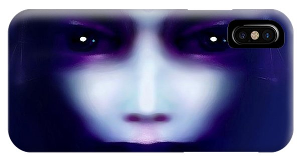 Angel  Blue IPhone Case