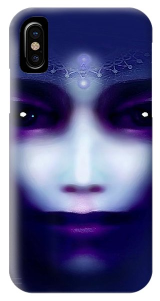 Angel  Blue IPhone Case