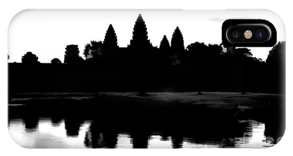 Angkor Wat Black  IPhone Case