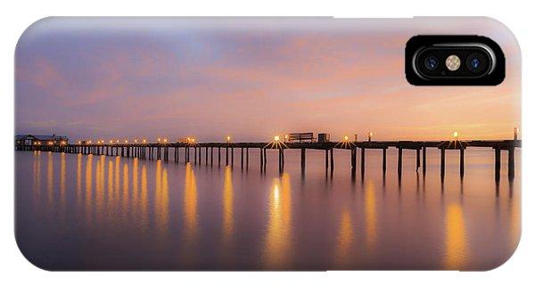 IPhone Case featuring the photograph Anna Maria City Pier , Anna Maria Island Sunrise  by Paul Schultz