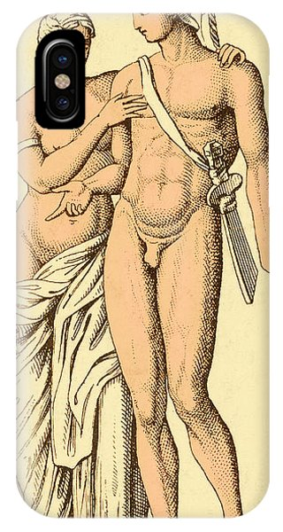 Valentine iPhone Case - Aphrodite And Ares, Greek Olympians by Photo Researchers