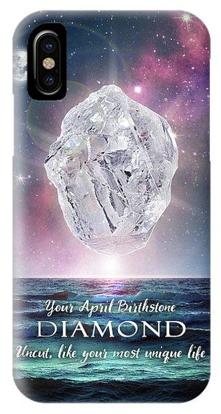 April Birthstone Diamond IPhone Case