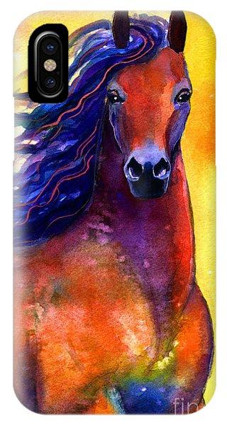 Arabian Horse 1 Painting IPhone Case