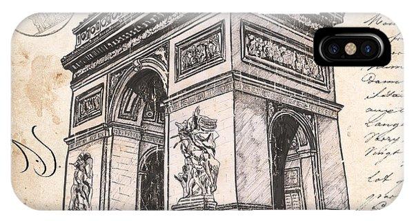 Cement iPhone Case - Arc De Triomphe by Debbie DeWitt