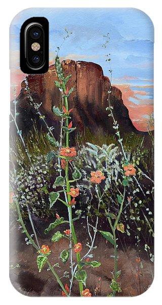 Arizona Desert Flowers-dwarf Indian Mallow IPhone Case