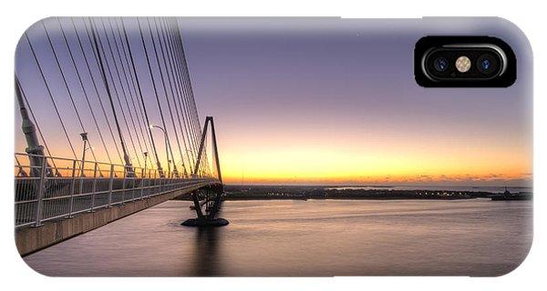 Yorktown iPhone Case - Arthur Ravenel Jr Bridge Sunrise by Dustin K Ryan