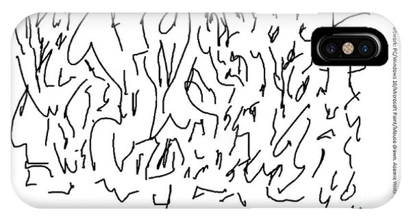 Asemic Writing 01 IPhone Case