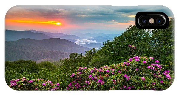 Asheville North Carolina Blue Ridge Parkway Scenic Landscape IPhone Case