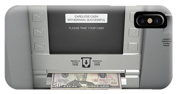 Atm Cardless Cash Withdrawal IPhone Case