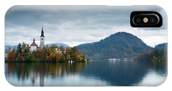 Autumn Colours At Lake Bled IPhone Case
