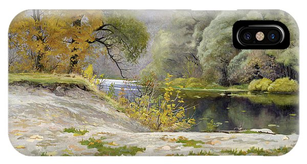 iPhone Case - Autumn Landscape In The Vicinity Of Eshar by Denis Chernov