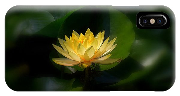 Yellow Lotus IPhone Case