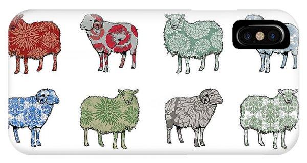 Sheep iPhone X / XS Case - Baa Humbug by Sarah Hough