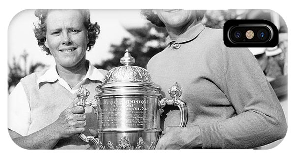Golf iPhone Case - Patty Berg And Babe Didrikson by Underwood Archives